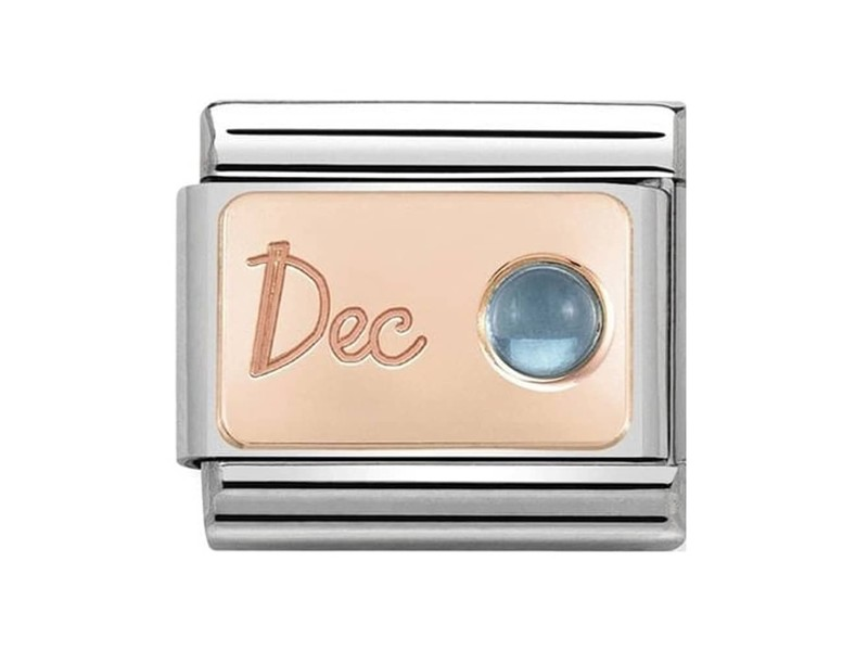 Product standard 430508 12   nomination italy   composable december birthstone link   rose gold   8033497441140