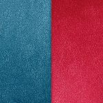 Les Georgettes Blue Petrol Or Raspberry Reversable Leather