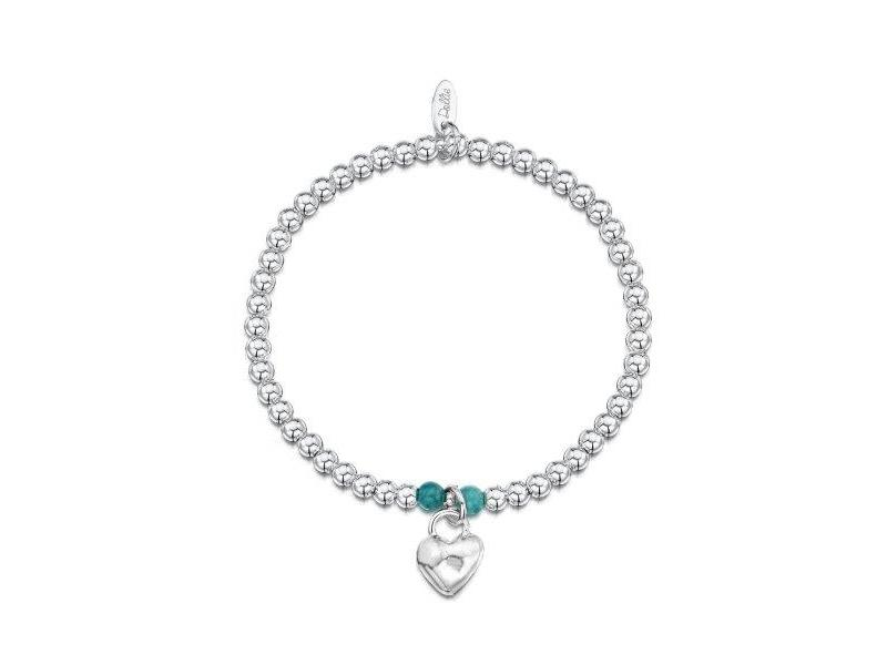 Product standard a002   dollie    dollie silver   turquoise scuffed heart bracelets    silver