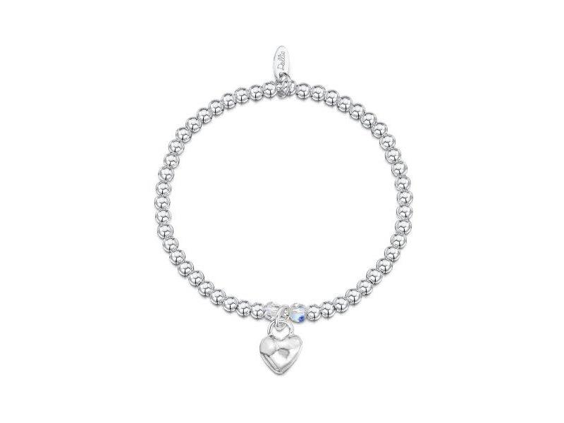 Product standard a003   dollie    dollie silver   crystal scuffed heart bracelets    silver
