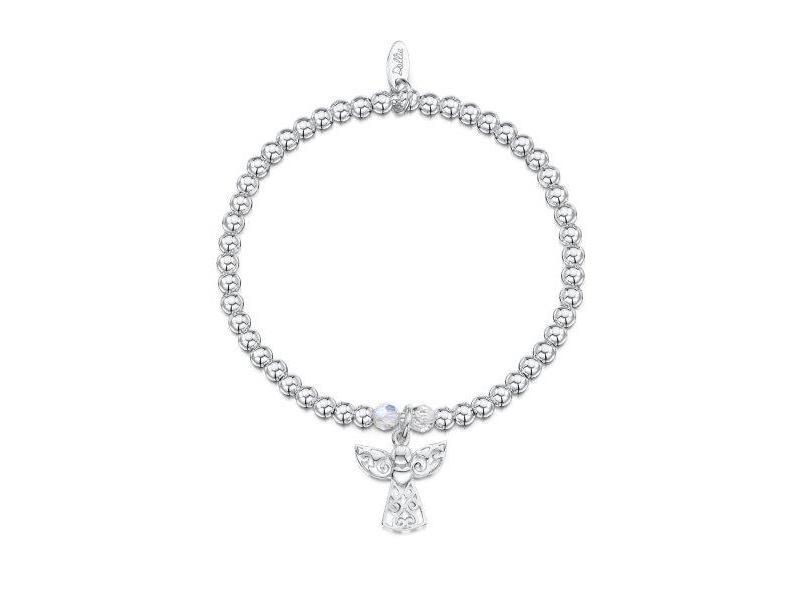 Product standard a017   dollie    dollie silver angel charm bracelets    silver