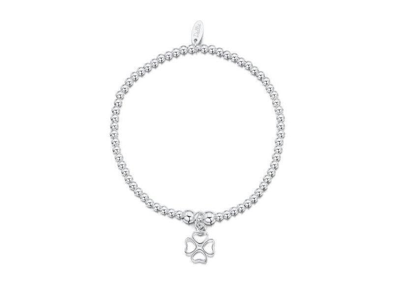 Product standard a021   dollie    dollie silver open clover bracelets   silver