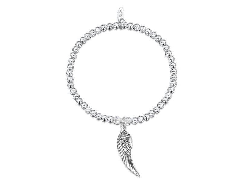 Product standard a040   dollie    dollie silver   crystal angel wing bracelets    silver