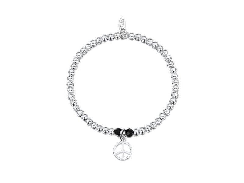 Product standard a045   dollie    dollie silver   obsidian peace bracelets   silver