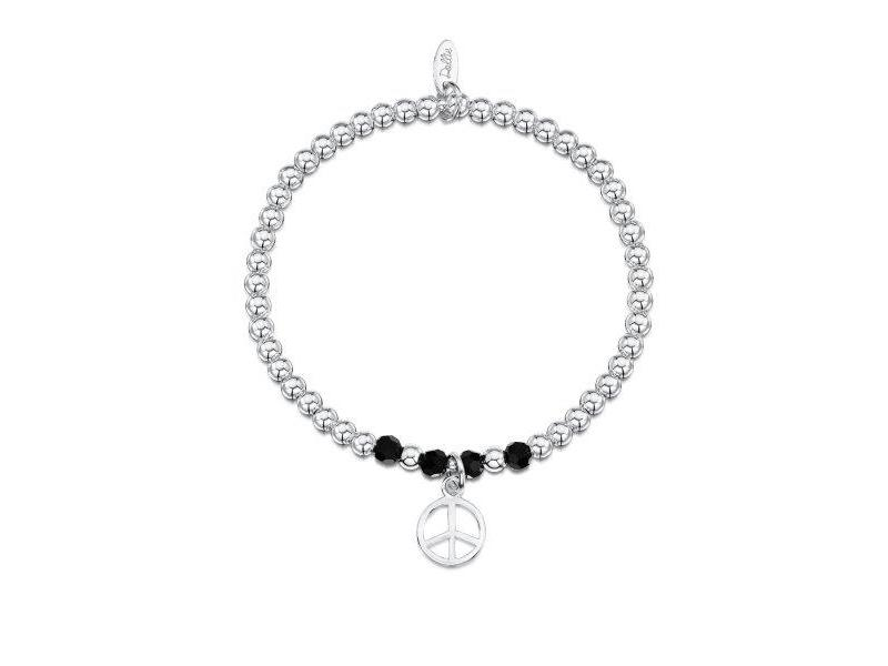 Product standard a046   dollie    dollie silver   obsidian peace bracelets   silver