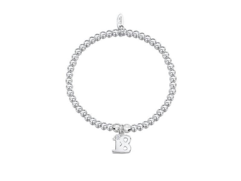 Product standard a048   dollie    dollie silver disco 18 charm bracelets   silver