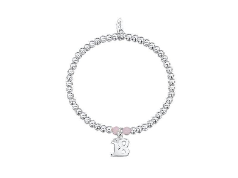 Product standard a049   dollie    dollie silver   rose quartz 18 charm bracelets   silver