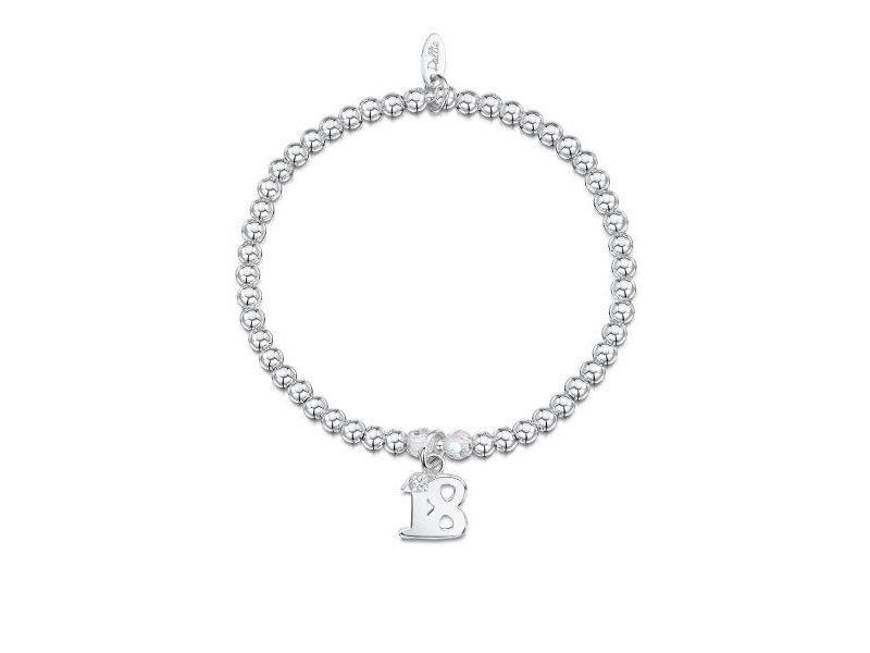 Product standard a050   dollie    dollie silver   crystal 18 charm bracelets   silver