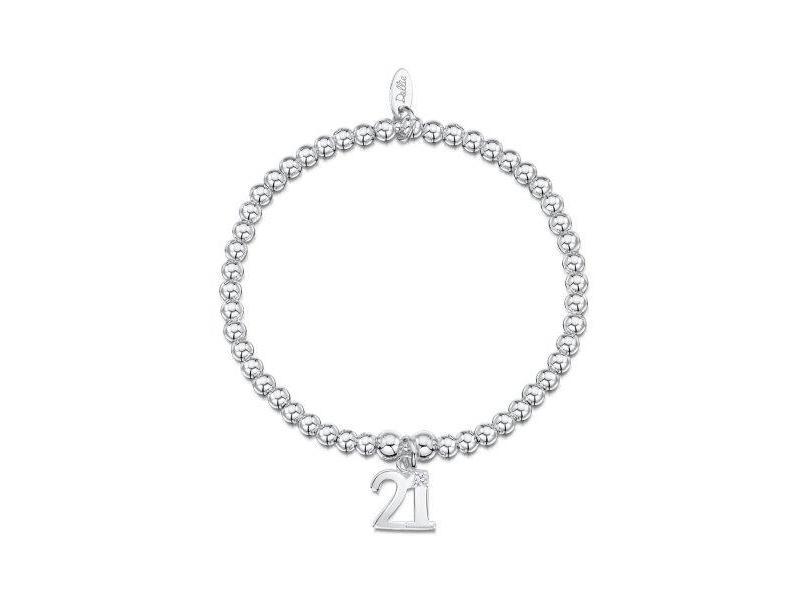 Product standard a051   dollie    dollie silver 21 charm bracelets   silver