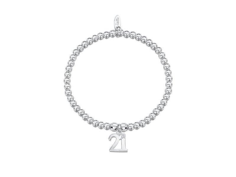 Product standard a054   dollie    dollie silver disco 21 charm bracelets   silver