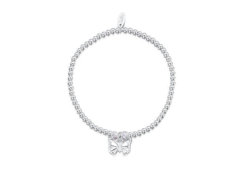Product standard a056   dollie    dollie silver   crystal open butterfly bracelets   silver