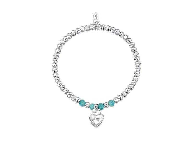 Product standard a065   dollie    dollie silver   turquoise heart bracelets   silver