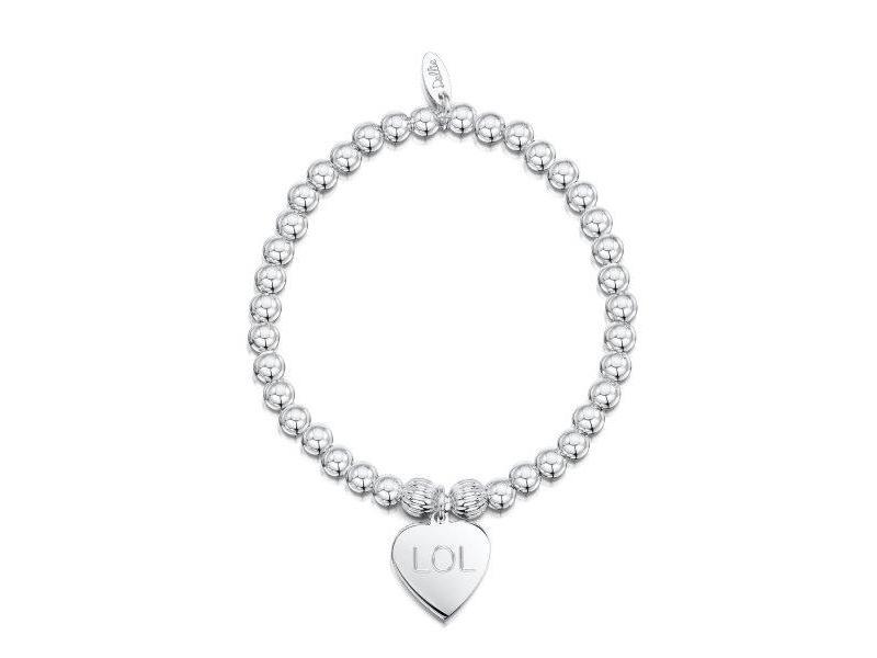 Product standard a085   dollie    dollie silver corrogated heavy heart bracelets    silver
