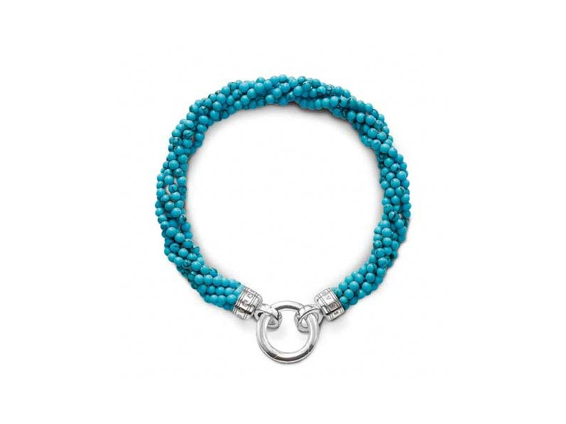 Product standard a1182 404 17 m   thomas sabo   ts silver   synthetic turquoise 5 strand bracelets    silver   4051245071498