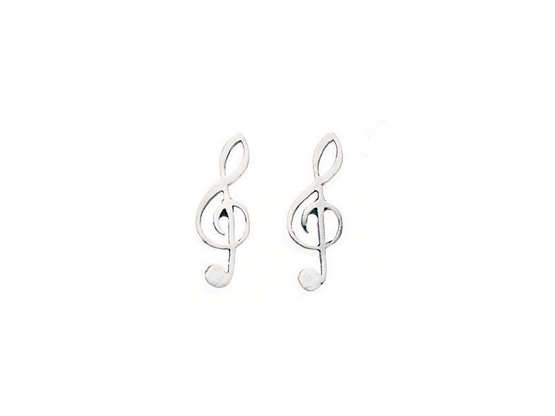 Product standard a159   fourth avenue   our silver treble clef ear cuff earrings   silver