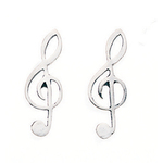 Fourth Avenue Silver Treble Clef Ear Cuff Earrings