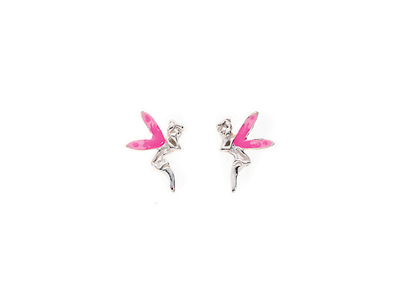 Product standard a802p   fourth avenue   our silver pink fairy stud earrings   silver