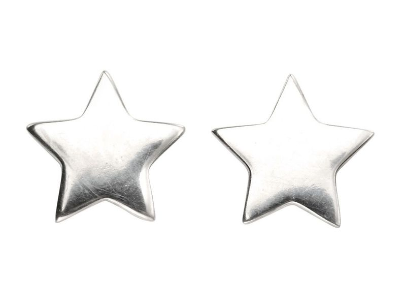 Product standard a963   fourth avenue   our silver star stud earrings    silver