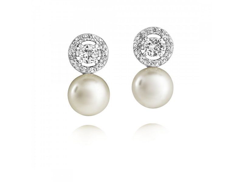 Product standard ame5   jersey pearl   jp fresh water pearl cluster stud earrings    silver