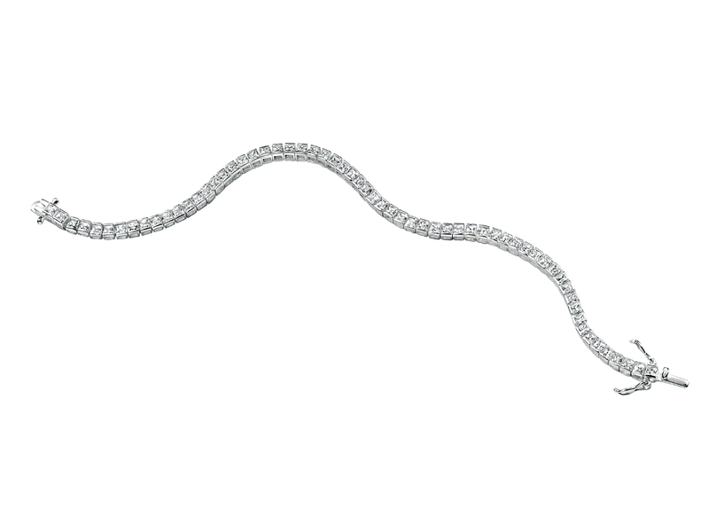 Product standard b3177c   fourth avenue   our silver   cz square tennis bracelets   silver   5055067127608