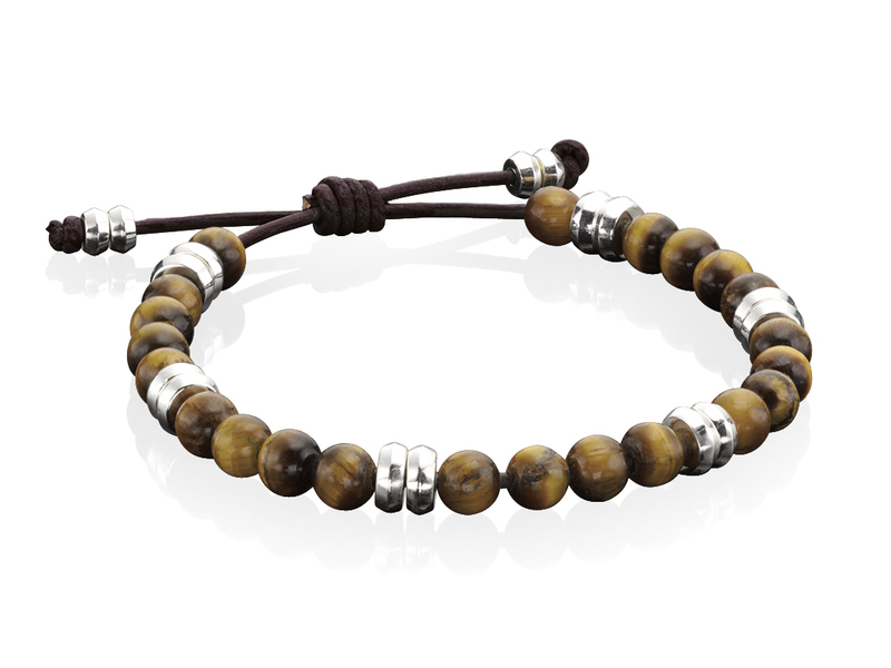 Product standard b3905   fourth avenue   our silver   tigers eye bead bracelets   silver   5055067171106