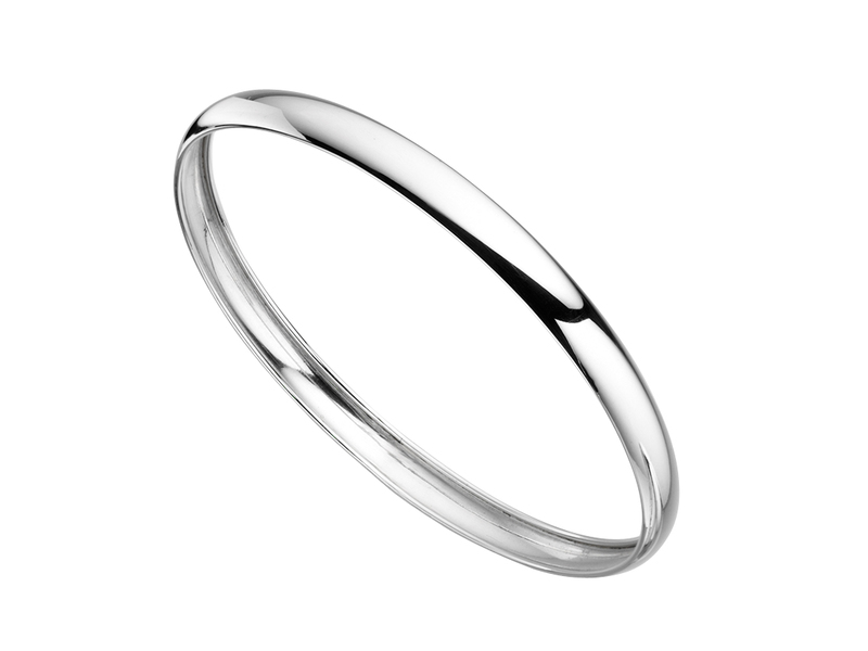Product standard b4027   fourth avenue   our silver plain solid bangles    silver