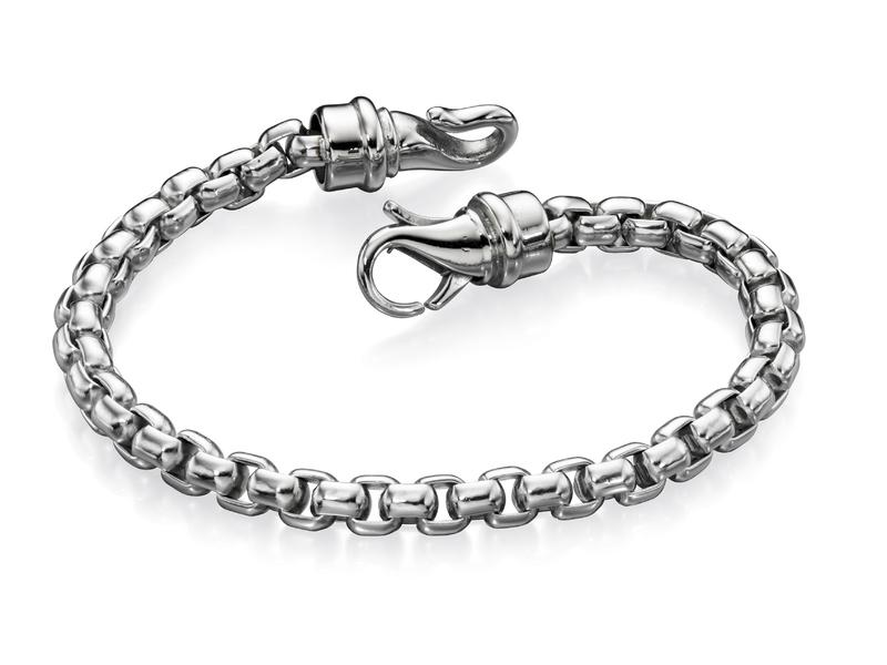 Fourth Avenue Stainless Steel Large Belcher Chain Bracelet
