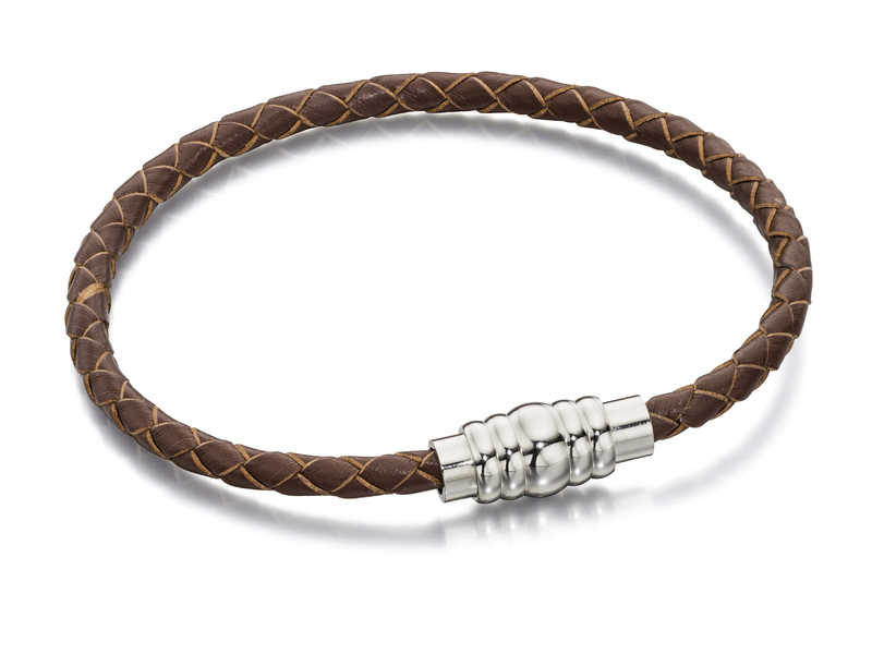 Product standard b4727   fourth avenue   our stainless steel   brown leather bracelets   stainless steel   5055938235678