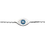 Fourth Avenue Silver & Enamel Evil Eye Bracelet
