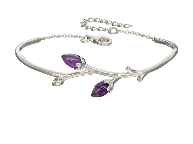 Product standard b5011m   fourth avenue   our silver   amethyst rose bud bangles   silver