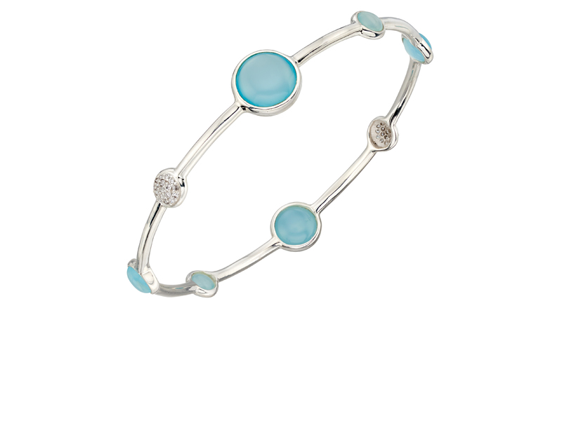 Product standard b5014t   fourth avenue   our silver   blue agate disk bangles   silver
