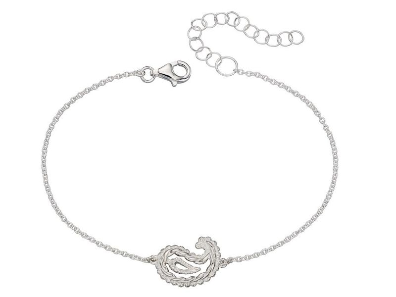 Product standard b5017   fourth avenue   our silver paisley bracelets   silver