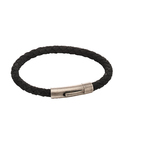 Fourth Avenue Stainless Steel & Black Suede Bracelet