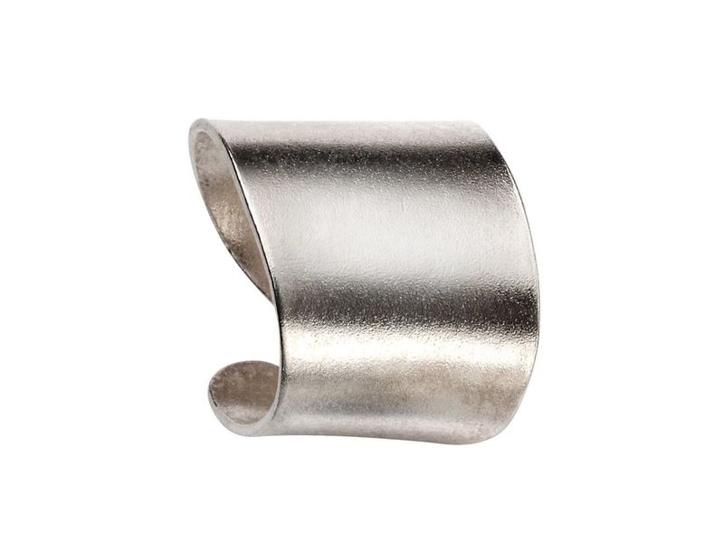 Product standard c163   fourth avenue   our silver plain band ear cuff earrings   silver