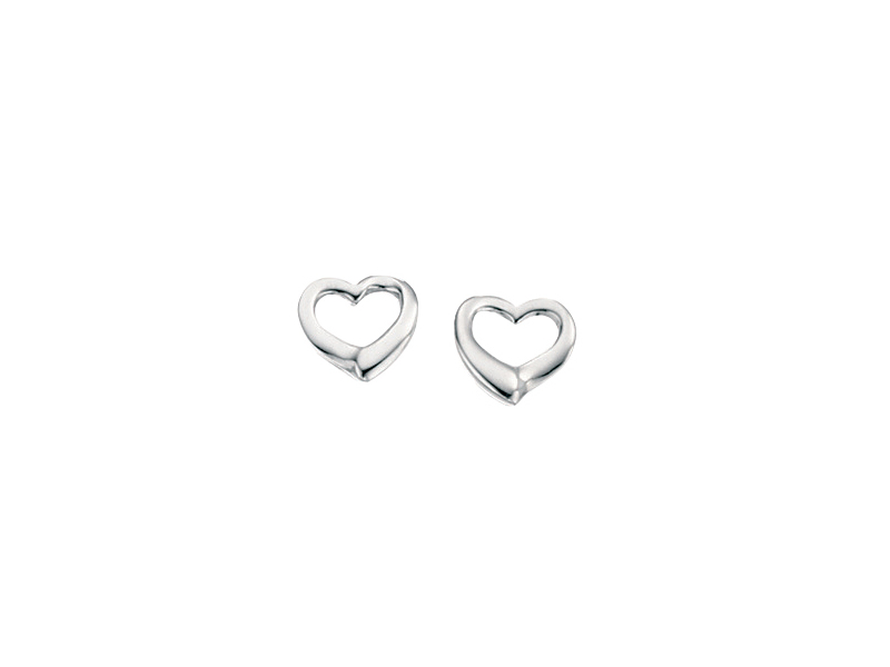 Product standard e2102   fourth avenue   our silver open heart stud earrings    silver   5055067121002