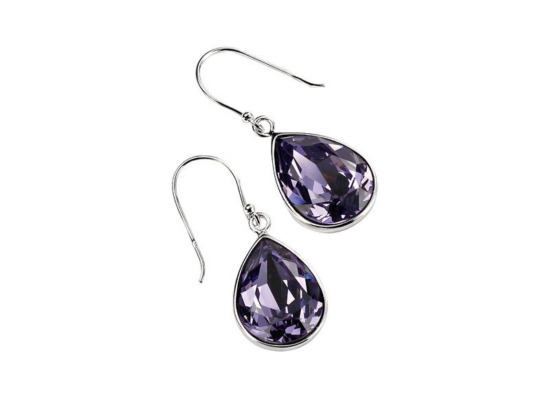 Product standard e3347m   fourth avenue   our large silver purple teardrop crystal drop earrings    silver   5055067128285