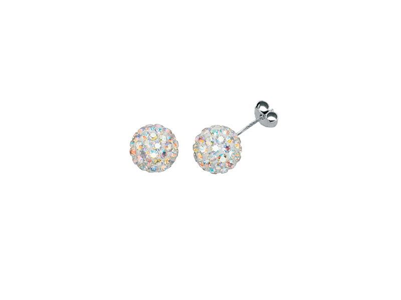 Product standard e3938d   fourth avenue   our silver   rainbow cz pave ball stud earrings   silver   5055067172912
