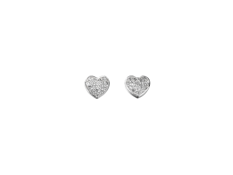 Product standard e4015c   fourth avenue   our silver   cz pave heart stud earrings    silver   5055067152730