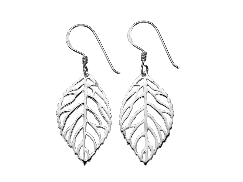 Product standard e4194   fourth avenue   our silver leaf drop earrings    silver   5055067155427