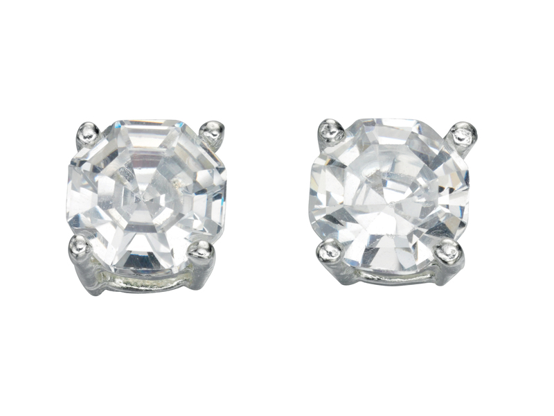 Product standard e4598c   fourth avenue   our silver   cz solitaire stud earrings   silver   5055067194723