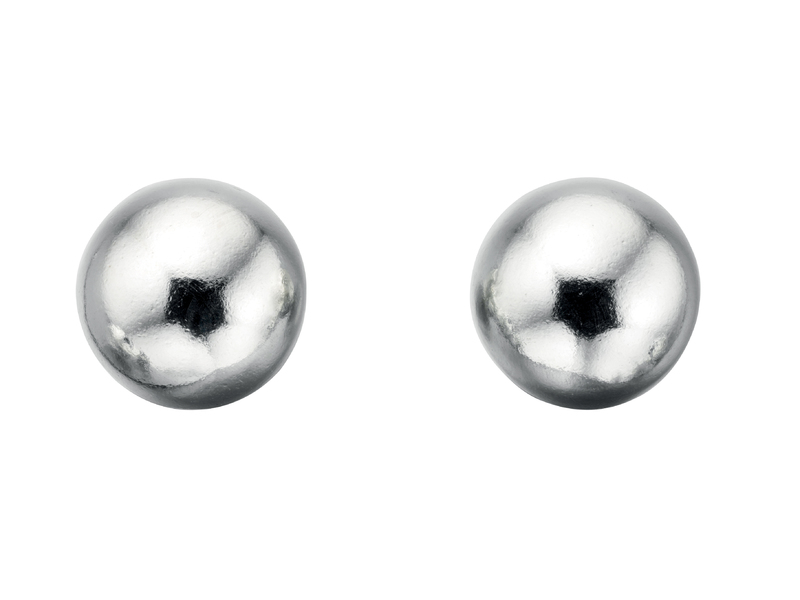 Fourth Avenue Silver Ball Stud Earrings