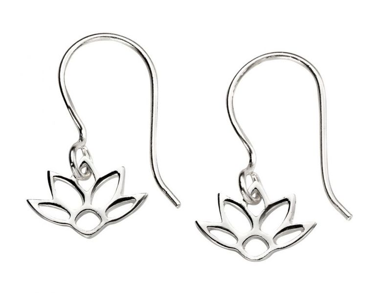 Product standard e5372   fourth avenue   our silver lotus drop earrings   silver
