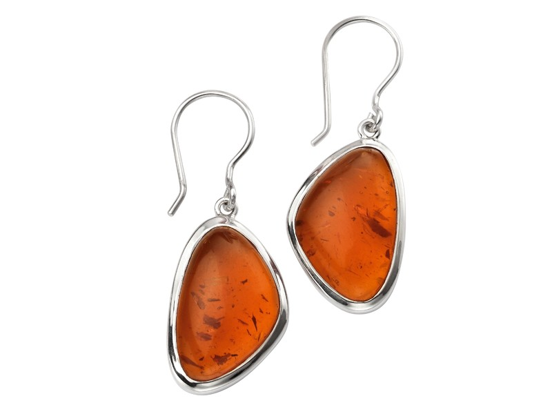Product standard e5384r   fourth avenue   our silver   amber triangle drop earrings   silver