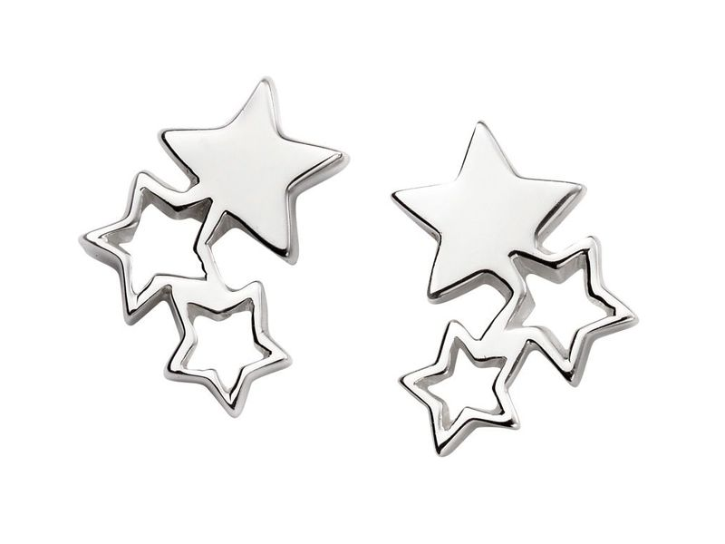 Product standard e5416   fourth avenue   our silver tripple star stud earrings    silver
