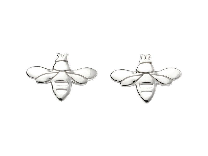 Product standard e5421   fourth avenue   our silver bumblebee stud earrings   silver