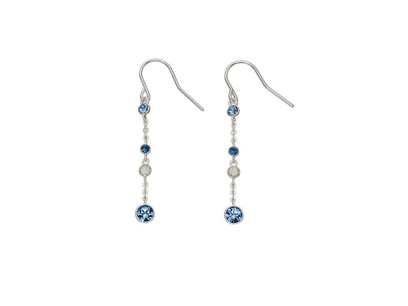 Product standard e5549   fourth avenue   our silver   blue opal chain drop earrings    silver