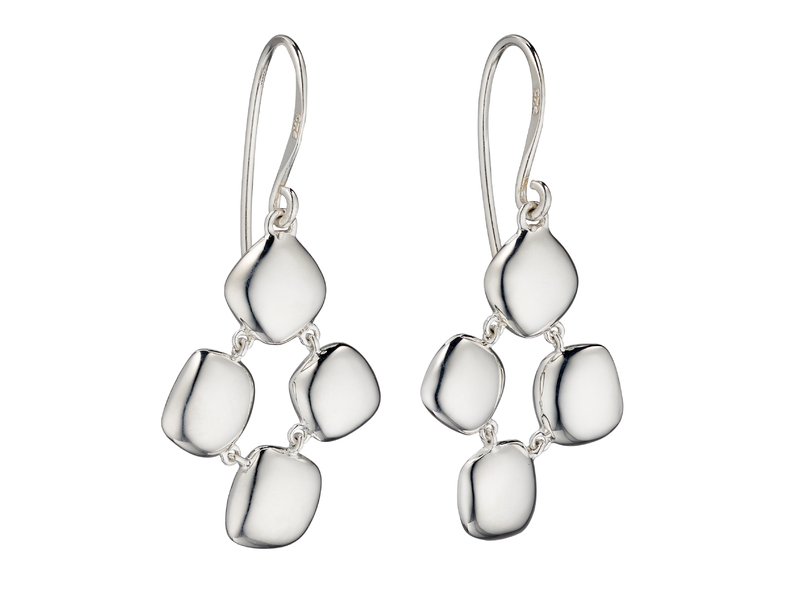 Product standard e5672   fourth avenue   our silver white organic pebble drop earrings   silver