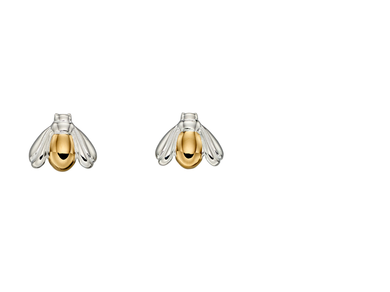 Product standard e5682   fourth avenue   our gold plated bumblebee stud earrings   silver