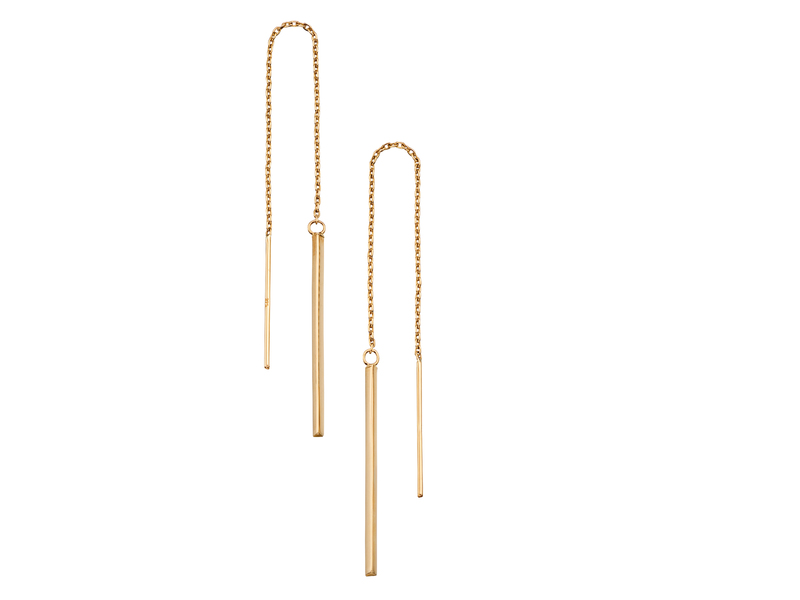 Product standard ge2129   fourth avenue   our gold bar pull through drop earrings   gold