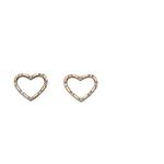 Fourth Avenue Gold & Diamond Heart Stud Earrings